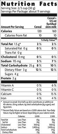 Nature S Path Whole O S Nutrition Facts