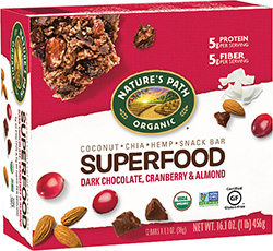 Nature's Path Superfood Snack Bar -Dark Chocolate, Cranberry & Almond