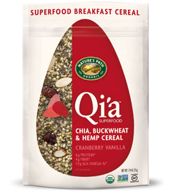 Qi'a™ Superfood - Chia, Buckwheat & Hemp Cereal - Cranberry Vanilla