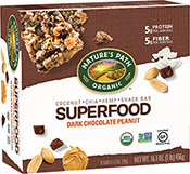 Nature's Path Superfood Snack Bar - Dark Chocolate Peanut [npa-153153.jpg] - Click for More Information