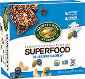 Nature's Path Superfood Snack Bar - Blueberry Cashew [npa-153191.jpg] - Click for More Information