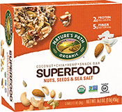 Nature's Path Superfood Snack Bar - Nuts, Seeds & Seasalt [npa-153276.jpg] - Click for More Information