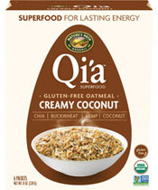 Qi'a™ Superfood Gluten-Free Oatmeal - Creamy Coconut  [npa-154037.jpg] - Click for More Information