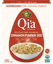 Qi'a™ Superfood Gluten-Free Oatmeal - Cinnamon Pumpkin Seed  [npa-154051.jpg] - Click for More Information