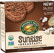 Sunrise Breakfast Biscuit - Dark Chocolate & Coconut  [npa-160120.jpg] - Click for More Information