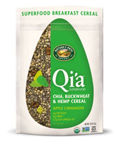 Qi'a™ Superfood - Chia, Buckwheat & Hemp Cereal - Apple Cinnamon [npa-320012.jpg] - Click for More Information