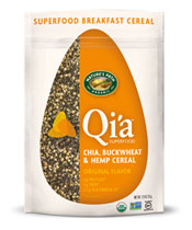 Qi'a™ Superfood - Chia, Buckwheat & Hemp Cereal - Original Flavor [npa-320050.jpg] - Click for More Information